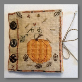 Pumpkins and Pinecones Needle Book