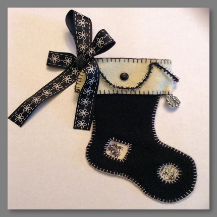 Black and White Christmas Stocking